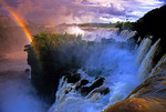 Argentina's Iguazu Falls with rainbow. (PHOTO ART)