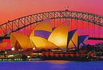 Sydney Opera House with Harbour Bridge.