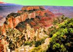 Arizona, USA: Wotan's Throne from north rim of the Grand Canyon