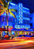 Art deco Colony Hotel on South Beach, Miami Beach, Florida USA
