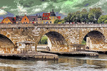 Germany: Regensburg Stone Bridge (Steinerne Brucke) over Danube (Donau) River