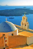 Kimis Theotokov Greek Orthodox Church at Fira, Santorini, Greek Isles.