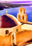 Kimis Theotokov Greek Orthodox Church at Fira, Santorini, Greece