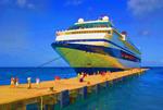 Cruise ship Celebrity Galaxy passengers disembarking at Saint George's, Grenada