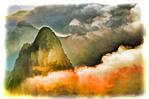 China: Huangshan (Yellow Mountain) sunrise over North Sea (Beihai) from Lion Peak