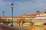 Italy: Ponte Vecchio, medieval bridge on Arno River in Florence