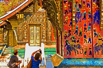 Golden City Buddhist Temple (Wat Xieng Tong) in Luang Prabang, Laos, built in 1560.