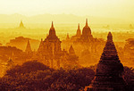 Bagan, Myanmar, pagodas on Bagan Plains