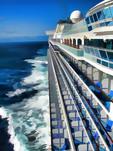 Diamond Princess cruise ship at sea off coast of Mexico