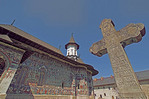 Romania: Sucevita Painted Monastery of Bucovina decorated with 16th century religious frescoes