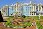 Peterhof Palace (Petrodvorets) in St. Petersburg, Russia (HDR painting)