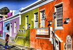 South Africa: Colorful houses in the Bo-Kaap Malay neighborhood of Cape Town