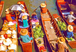 Thailand: Bangkok Floating Market at Damnern Saduak