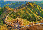 Great Wall view from General's Tower at Jinshanling Pass, northeast of Beijing, in Hebei province.