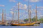 Astrid and other tall sailing ships in Helsinki harbor.