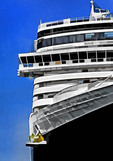 Cruise ship profile.