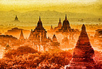 Bagan, Myanmar, pagodas on Bagan Plains