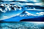 Orsono volcano from Lago Llanquihue, Lakes District, Chile.