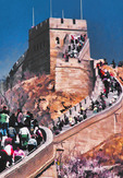 Crowd on the Great Wall at Badaling, closest part of wall to Beijing.