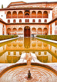 Alhambra Palace, Moorish architecture in Granada, Spain.