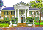 Elvis Presley's home, Graceland, in Memphis, Tennessee.
