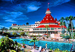 Hotel del Coronado Victorian luxury resort in San Diego, California.