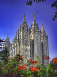 Salt Lake Temple of Mormon Church (Church of Jesus Christ of Latter-Day Saints)