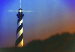 Cape Hatteras Light in Cape Hatteras National Seashore on Outer Banks of North Carolina, USA.