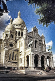 Basilica of Sacre Coeur (La Basilique du Sacre Coeur du Montmartre), Paris, France.