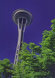 Space Needle in Seattle, Washington, USA.