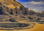 Chaco Culture National Historical Park with ruins of great houses in New Mexico, USA.