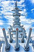 USS Alabama at Battleship Memorial Park in Mobile on Alabama Gulf Coast.