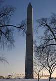 Washington Monument in winter.