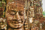 Bayon Temple Sis boddhisattva stone faces, Siem Reap, Cambodia.