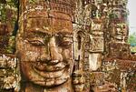 Bayon Temple Sis boddhisattva stone faces, Siem Reap, Cambodia.
