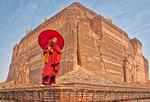 Mingun Temple monk, Myanmar.
