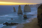 12 Apostles at sunset along Great Ocean Road, Victoria, Australia.