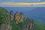 Three Sisters from Echo Point in Blue Mountains, NSW, Australia.