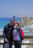 Couple taking selfie at 12 Disciples, Victoria, Australia.