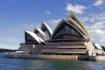 Sydney Opera House waterfront view.