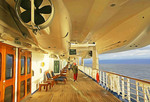 Early morning on Promenade Deck of the Sea Princess.