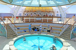 Sea Princess cruise ship's plunge pool.