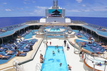 Sea Princess cruise ship pool area.
