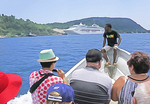 Passengers returning to Sea Princess cruise ship by water taxi from downtown Port Vila, Vanuatu.