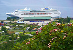 Sea Princess cruise ship at Rabaul, Papau New Guinea.