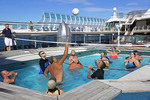 Sea Princess cruise ship volleyball game.