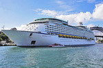 Royal Caribbean cruise ship Explorer of the Seas in port of Sydney Harbour, Australia.