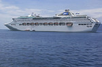 Sea Princess in Milne Bay, Papua New Guinea.