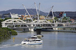 Harbor Bridge for pedestrians over Brisbane River, Brisbane, Queensland, Australia.