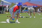 Club Harrington lawn bowlers in Harrington, NSW, Australia.